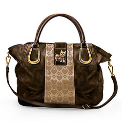 Yorkie Love Satchel-Style Handbag