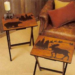 Moose and Bear Tray Tables