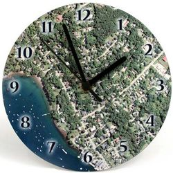 "Personalized Hometown Map 8"" Clock"
