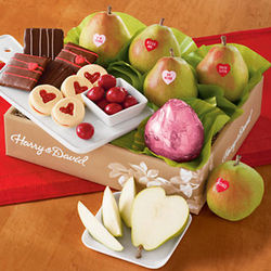 Valentine's Day Pears and Sweets Gift Box