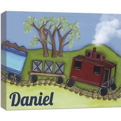 Caboose 20x16 Canvas Wall Art