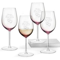 Set of 4 Amethyst Wine Glasses