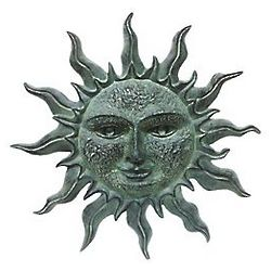 Sun Face Garden Wall Plaque