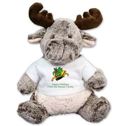 Personalized Happy Holidays Milo Moose Stuffed Animal