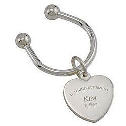 Heart Shape Returnable Key Chain
