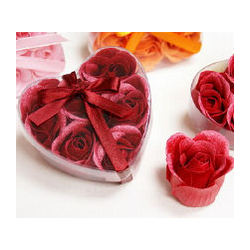 Heart Rose Soap Petals