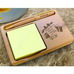 Personalized Birthday Wishes Wooden Notepad & Pen Holder