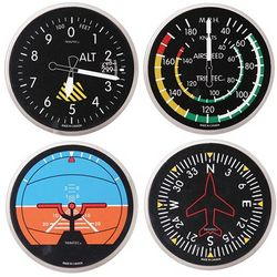 Round/Classic Airplane Instrument Coasters