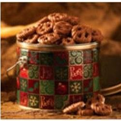 Christmas Mini Pretzel Tin