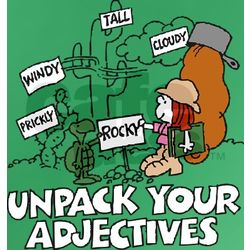 """Unpack Your Adjectives"" Women's Fitted T-Shirt"