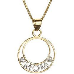 Mom Circle Pendant