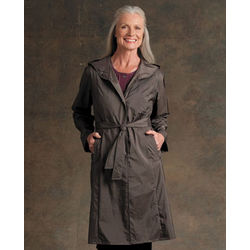Packable Travel Petite Trench Coat