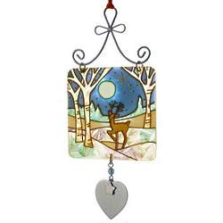Personalized Winter Wonderland Stained Glass Sun Catcher