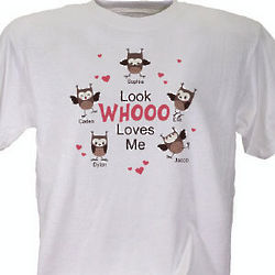 Look Whooo Loves Me Valentine T-Shirt