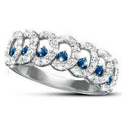 Serenity Diamond and Sapphire Eternity Ring