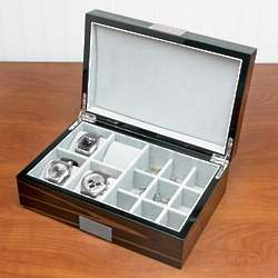 Calabria Personalized Cufflinks and Watch Case