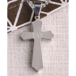 Personalized Classic Silver Cross Pendant
