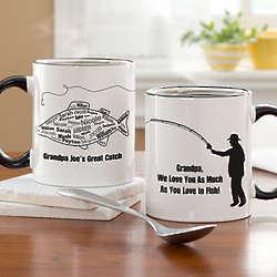 Fisherman What a Catch Personalized Coffee Mug