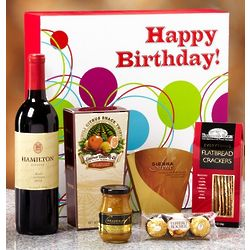 Happy Birthday Vineyard Select Red Wine Box