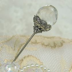 Vintage Crystalline Hatpin