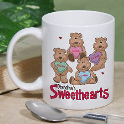 Personalized Candy Sweethearts Bears Valentine Mug