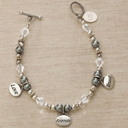 Love, Friends, Trust Personalized Charm Bracelet