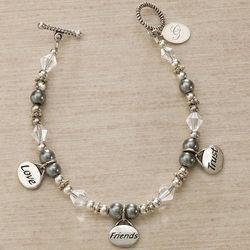 Love, Friends, Trust Personalized Charm Bracelet