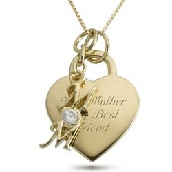 14K Gold Plated Mom Necklace