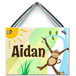 Monkeyin' Around Personalized Ceramic Wall Tile
