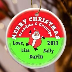 Personalized Merry Christmas Santa Ornament