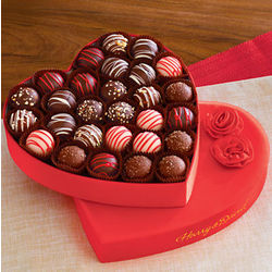 Valentine's Day Chocolate Truffles Gift Box