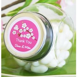 Personalized Cherry Blossom Candy Jar Favors