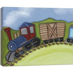 Train Engine 20x16 Canvas Wall Art