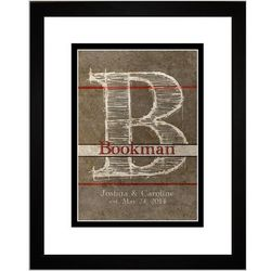 Book Cover Personalized Initial Framed Art