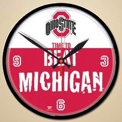 Ohio State Buckeyes Beat Michigan Wall Clock