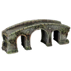 Three-Arch Stone Bridge Aquarium Ornament