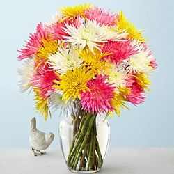 Bursting Blooms Fuji Mums Flower Bouquet