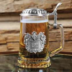 Engraved Medieval Glass Tankard