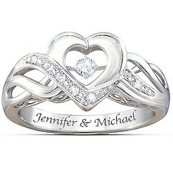 Personalized Dance of Love Diamond Ring