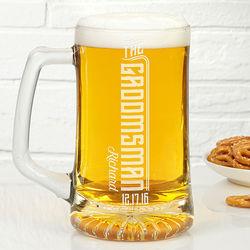 Groomsman's Personalized I Do Crew Engraved Beer Mug