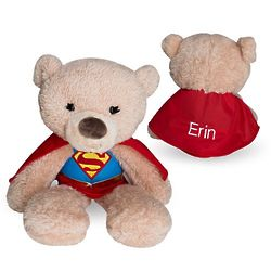 Personalized Supergirl Plush Bear Stuffed Animal