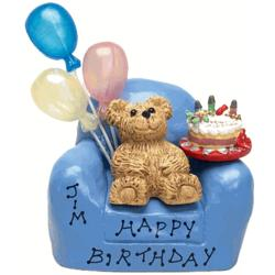 Personalized Birthday Teddy Bear in Chair