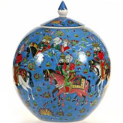 Ottoman Turkish Ceramic Round Jar