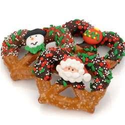 Christmas Chocolate and Caramel Pretzel Twists