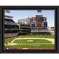 Customized San Diego Padres Scoreboard Framed Photograph