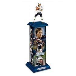 New England Patriots Tom Brady Legend in Action Sculpture