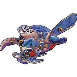 Sea Turtle Shaped Jigsaw Puzzle