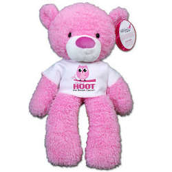 Give a Hoot Breast Cancer Awareness Teddy Bear