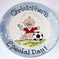Personalized Ceramic Soccer Plate