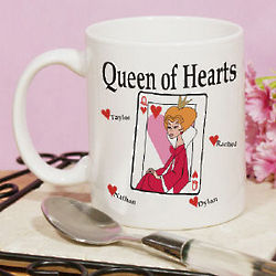 Queen of Hearts Valentine Coffee Mug